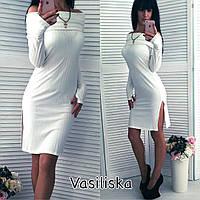 Женское элегантное платье-футляр (4 цвета)