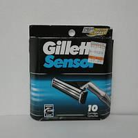 Кассеты для бритья мужские Gillette Sensor 10 шт. (Жиллет Сенсор Оригинал), фото 1