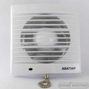 Вентилятор на витяжку АВАТАР + вимикач d125