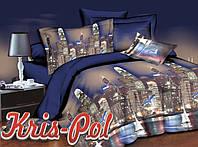 """Двухспальное Евро постельное бельё для сладкого сна """"Волшебство ночи""""."""