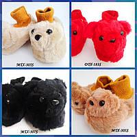 Теплые тапочки-мишки для малышей