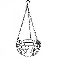 Подвесное кашпо, диаметр 26 см, высота с цепью и крюком 53,5 см// PALISAD 69015