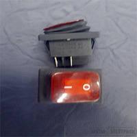 Кнопка герметичная с подсветкой широкая
