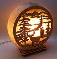 Соляная лампа круглая Олень
