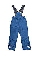 Детский полукомбинезон для мальчика, зимние брюки на бретелях( синий ), штаны на подтяжках