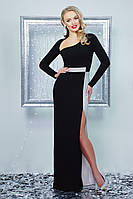 Красивое вечернее платье в пол Лучезара, (2цв) длинное платье, платье с разрезом, дропшиппинг