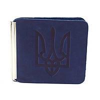 Зажим для денег с гербом Z1-23 (синий), фото 1
