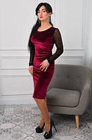 Элегантное платье. Интересные платья. Новая коллекция зима 2017 - 2018. Платье по фигуре с сеточкой в горошек