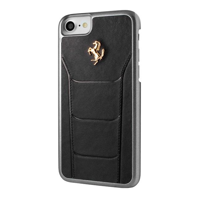 Чехол CG Mobile Ferrari для iPhone 8/7 488 Gold логотип / Black (FESEGHCP7BK)