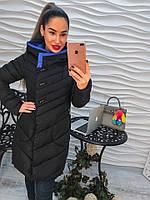 Женская зимняя теплая куртка с капюшоном (2 цвета)