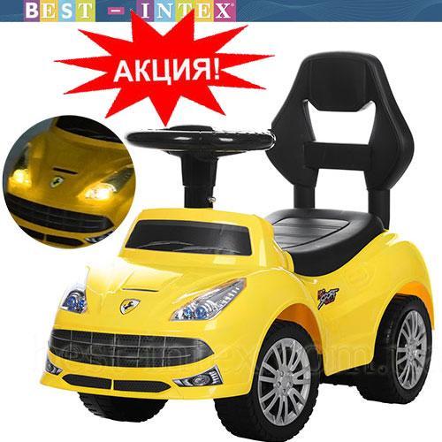 Каталка-толокар Bambi FD-6803-6 Свет+Музыка Желтый Ferrari