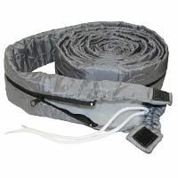 Чехол для шланга встроенного пылесоса с молнией 9 м, серый