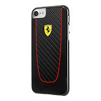 Чехол CG Mobile Ferrari для iPhone 8/7 SF Pit Stop вуглеволокно Black (FEPICHCP7BK)