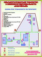План эвакуации. Схема движения транспорта по территории
