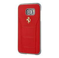 Чехол CG Mobile FERRARI 488 GOLD LOGO для Samsung Galaxy S7 EDGE Red (FESEGHCS7ERE)