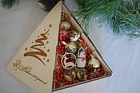 """Коробка """"Елка"""", универсальная подарочная коробочка"""