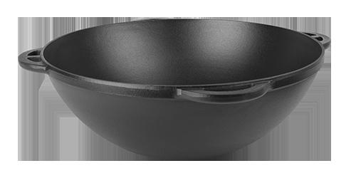 Чугунный казан азиатский эмалированный с матовым покрытием внутренней и наружной поверхности (d=450,V=17 л ЭМ)