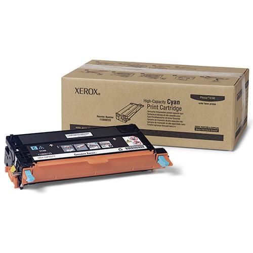 Тонер картридж Xerox PH6180 Cyan (Max)