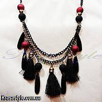 Ожерелье из бусинок с кисточками, фото 1