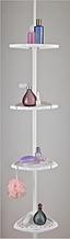 Полиця кутова для ванної c металевою трубою PrimaNova, Туреччина