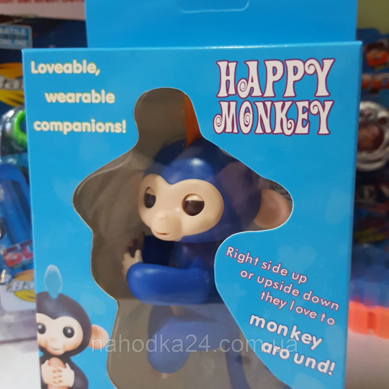 Интерактивная ручная обезьянка Fingerlings / Happy Monkey (реплика)