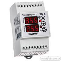 Терморегулятор ТК-5в темп. Датчик для котлов на DIN-рейку