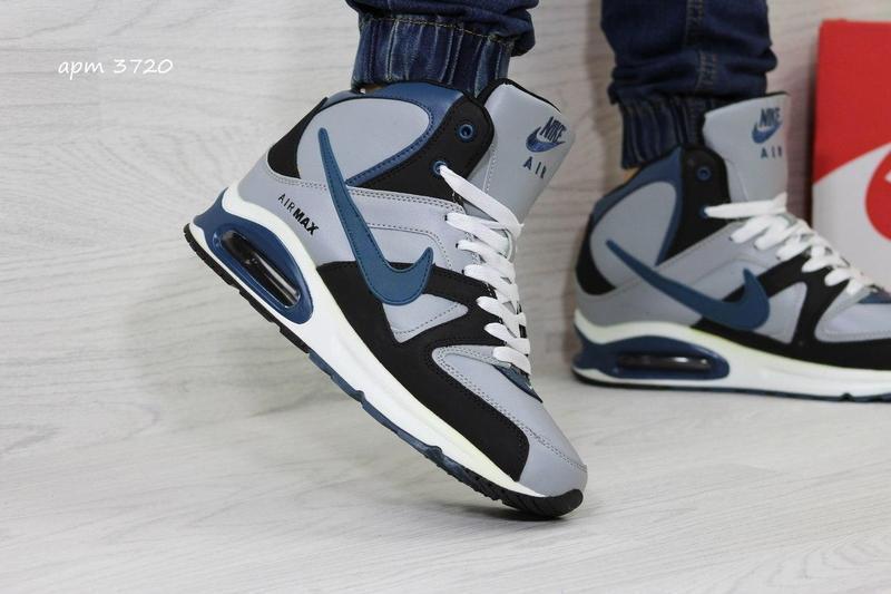8792c8f616c74b Чоловічі зимові кросівки 3720 Nike Air Max сірі з чорним - Камала в  Хмельницком