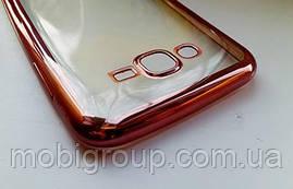 Чехол силиконовый с бампером под металик Samsung J7
