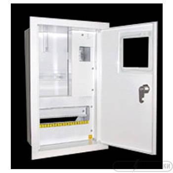 Щит под 1ф электрический счетчик на 10 автоматов внутренний (ЛОЗА) размеры: 355х212х135