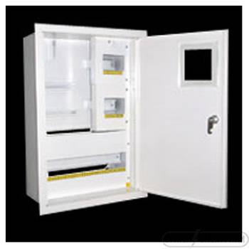 Щит под 3ф электрический счетчик на 24 автоматов внутренний (ЛОЗА) размеры: 425х310х100
