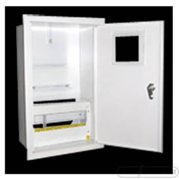 Щит под 3ф электрический счетчик на 12 автоматов внутренний (ЛОЗА) размеры: 425х255х100