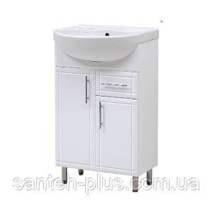 Тумба для ванной комнаты Стандарт Т 3/4 с умывальником Лотос-56