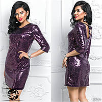 9e784437c4c Вечернее платье с пайетками фиолетового цвета. Модель 16621. Размеры 42