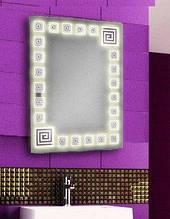 Дзеркало з підсвічуванням для ванної кімнати 800х600 d-5 вологостійке