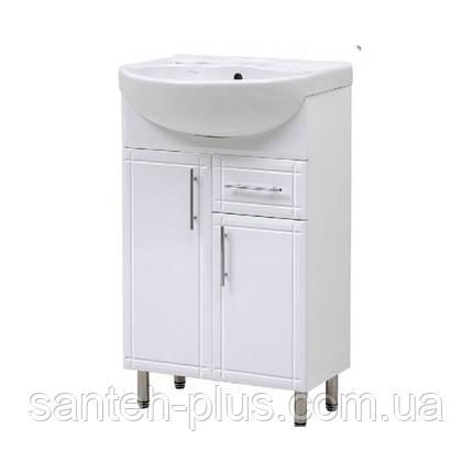 Тумба в ванную комнату с умывальником и выдвижными ящиком на ножках Изео-60 Т3/4, фото 2