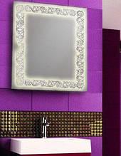 Дзеркало з LED підсвічуванням для ванної кімнати вологостійке 800х600 мм d-7