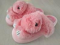 Тапочки Зайки для дома женские розовые