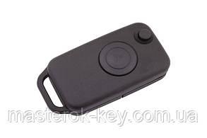 Заготовка выкидного ключа MERCEDES HU64 с одной кнопкой (тонкое лезвие) #111.2