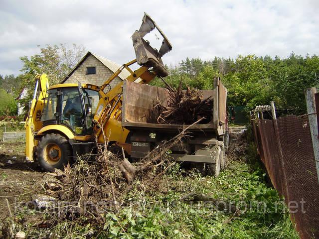 Уборка и вывоз пней, корней и мусора