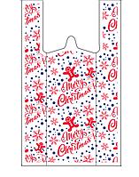 Новогодний пакет майка 30-50 см /(уп-50шт )
