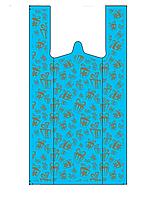 Новогодний пакет майка 30-50 см /(уп-100шт )