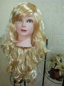 Карнавальный парик длинный с локонами светло русый