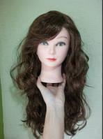 Карнавальний парик довгий з локонами коричневий, фото 1
