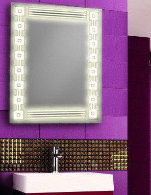 Дзеркало з лэд підсвічуванням для ванної кімнати d-10 600х800 мм