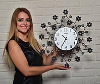 Настенные часы из металла и стекла для гостинной, фото 1