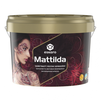 Краска для стен и потолков ESKARO Mattilda, TR (прозрачная), 0,9л, фото 2