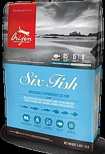 Корм Orijen (Ориджен) SIX FISH CAT KITTEN 6 видов рыб для котов всех пород и возрастов 1,8 кг