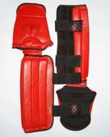 Защита голени со стопой Wolf (вета: красный, черный;  размеры: M, L..)