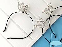 Обруч для волос Коронка Серебро 15096