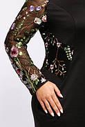 Женское нарядное платье Адель цвет черный размер 56,58 / большого размера, фото 4